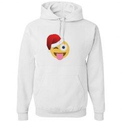 xmas santa winking emoji