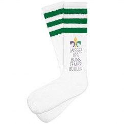 Les Bons Temps Mardi Gras Socks
