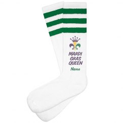 Mardi Gras Queen Custom Socks