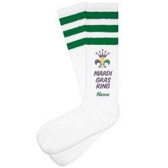 Mardi Gras King Custom Socks