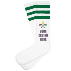 Custom Mardi Gras Parade Socks