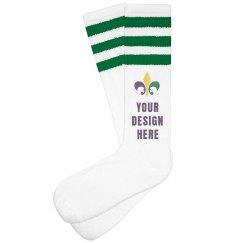 Custom Mardi Gras Parade Socks