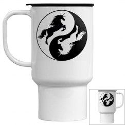 Yin Yang Unicorn Mug