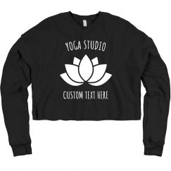 Custom Yoga Studio Lotus Crop Sweater