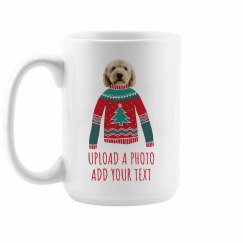 Upload Your Pet Photo Christmas Sweater