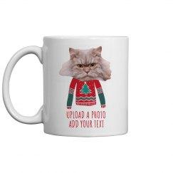 Your Pet Ugly Sweater Custom Text Coffee Mug