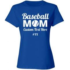 Custom Baseball Mom Number