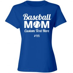8407f96a772 Custom Baseball Mom Shirts