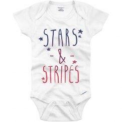 Stars and Stripes Onesie