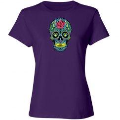 Pretty purple skull t-shirt