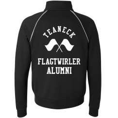 ALUMNI FLAG TWIRLER ZIP UP FLEECE BLACK/WHITE
