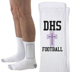 PURPLE FHS FOOT SOCKS