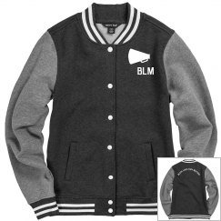 Black Lives They Matter Horn Fleece Letterman Jacket