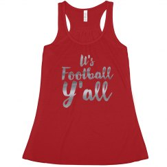 It's Football Y'all Metallic Text