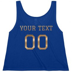 Custom Metallic Text Football Girl