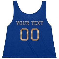 Custom Metallic Text Football Girl
