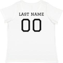 Custom Plus Size Football Name/No.