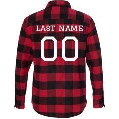 Custom Football Player Flannel