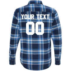 Customizable Text Football Flannel