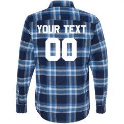 Customizable Text Football Flannel