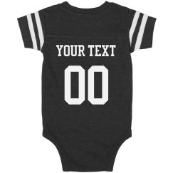 Custom Football Onesie Name/Number