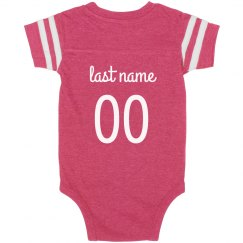 Cute Football Sister Custom Onesie