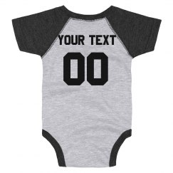 Custom Text Football Onesie