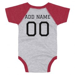 Custom Name/Number Football Baby