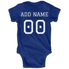 Cute Custom Football Baby Onesies