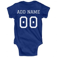 Cute Custom Football Baby Bodysuits
