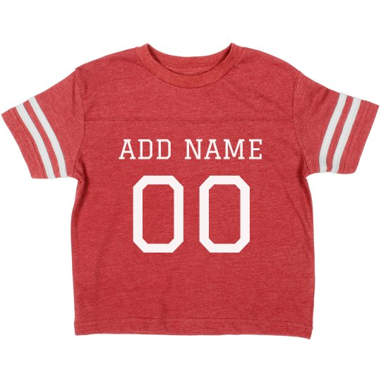 c6786754a7b Custom Name No. Football Toddler Toddler Vintage Sports T-Shirt