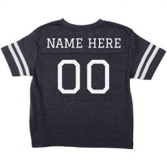 Custom Football Name/No. Toddler