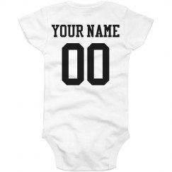 Custom Name Number Onesie