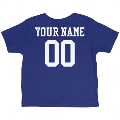 Custom Name Number Toddler Tee