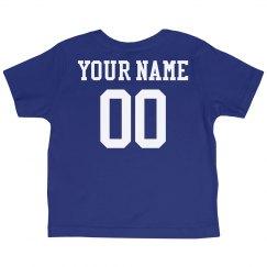 Custom Name Number Toddler Tee