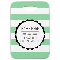 Custom Tag With Stripes