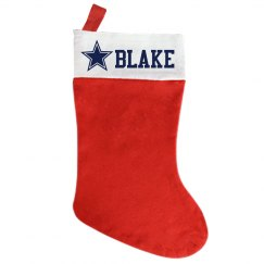 Custom Stocking Cowboys star