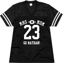 Custom Football Mom Jersey With Name and Number