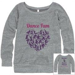Dance Fam ECO-FLEECE WIDENECK SWEATSHIRT