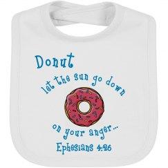 Donut bib Eph. 4:26 bl/wt