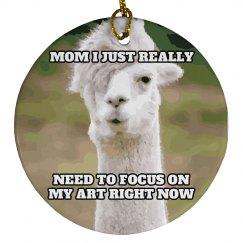 Emo Llama Ornament