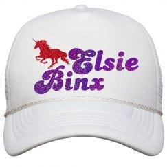 EB unicorn snapback white