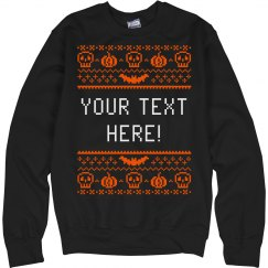 Custom Pixel Halloween Sweater