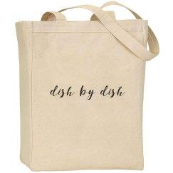 Dish by Dish canvas tote bag