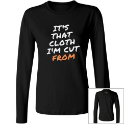 It's That Cloth Black/Wht Women's long sleeve
