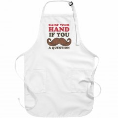 Mustache a Question Apron