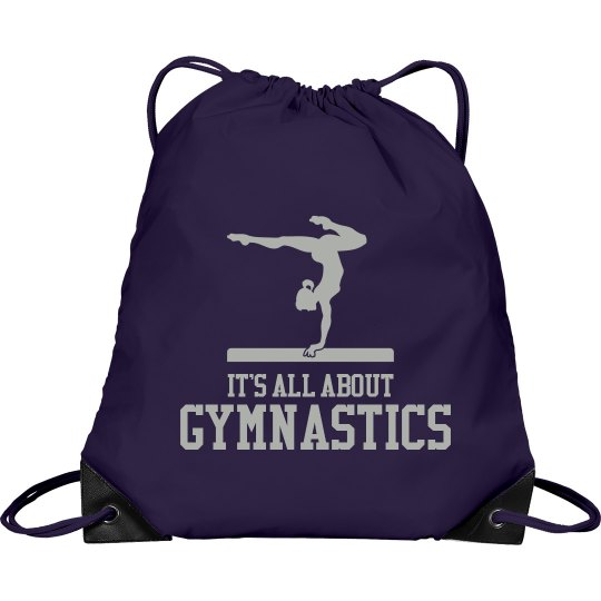 d3f3744241a3 It s All About Gymnastics Port   Company Drawstring Cinch Bag
