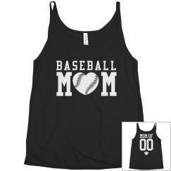 Custom Baseball Mom Tank Tops Plus Size