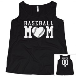 Custom Baseball Mom Tank Tops Plus Size