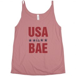 Trendy USA Is Bae July 4th Tank